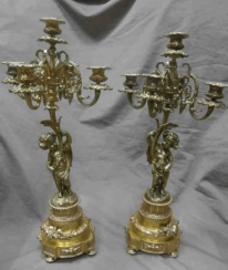 Pair of candelabra Author: L. O. Moreau