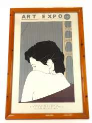Patrick Nagel (1945-1984): Very rare lithography of the International art exhibition