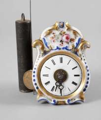 Miniature porcelain shield watch with alarm clock