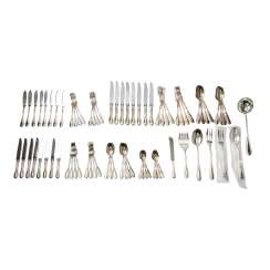 CHRISTOFLE dining Cutlery for 7-8 persons 'Galea', silver-plated, 20. Century
