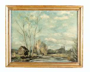Anders Osterlind (1887-1960) Chartres, Oil on Canvas, signed, framed