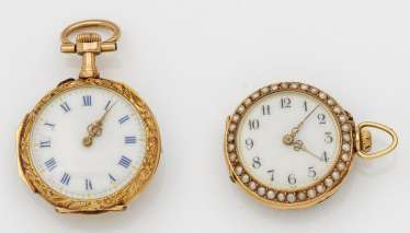 Two Belle Epoque ladies' pocket watches