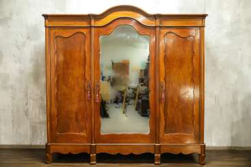 Antique three-door wardrobe
