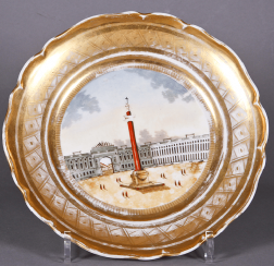 Plate .Russia, private factory , mid 19th century
