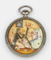 Pocket watch with erotica
