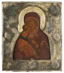 Mother of God of Vladimir with gold-plated Silberbasma