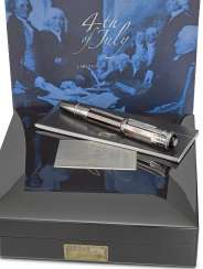 MONTBLANC, LIMITED EDITION WHITE GOLD, MOTHER-OF-PEARL AND DIAMONDS '4THOF JULY' FOUNTAIN PEN, NO. 34/56