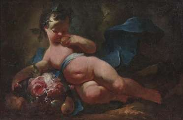 South German or Austrian. Putto with flowers and fruits