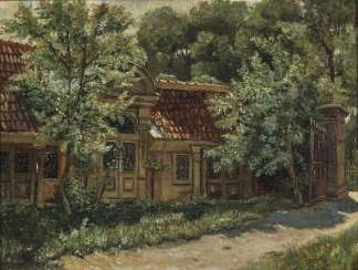 Eugen Bracht - The old cemetery of Arnstadt