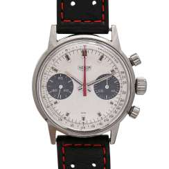 HEUER Vintage mens watch, Chronograph, CA. 1960/1970s. Stainless steel.