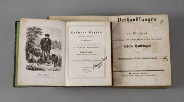 Two Books In Weimar In Mid-19th Century. Century