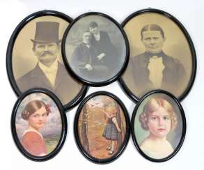 6 oval frame around 1890/1900
