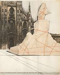 Wrapped Monument to Vittorio Emanuele, Project for Piazza del Duomo, Milano 1975