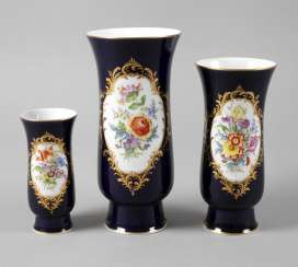 Meissen three vases