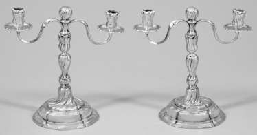 Pair Of Baroque Candelabra