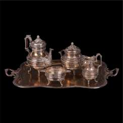 Large silver coffee set consisting of 5 items. France.