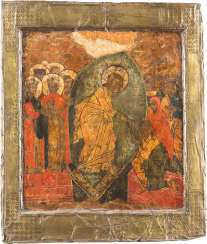 LARGE-FORMAT ICON WITH THE HADES JOURNEY OF CHRIST WITH BASMA
