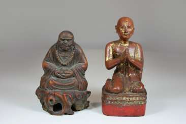 Pair Of Wooden Carvings, South-East Asia 19. Century