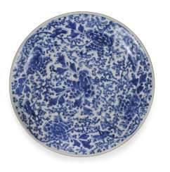 Blue-And-White Plates, Floral