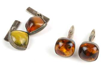 2 Pair Of Amber Cufflinks