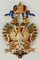 Russia: Imperial and Royal order of the White eagle, gem.