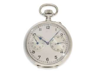 Pocket watch: early and very rare A. Lange & Söhne Glashütte deck Watch of the Navy No. 201228, Glashütte CA. 1941