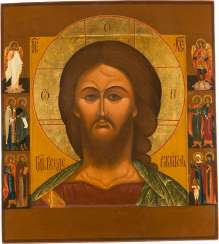 LARGE-FORMAT ICON WITH CHRIST 'THE GRIMME EYE'