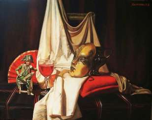 Still life with Venetian mask