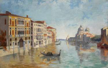 View of the Canale Grande - Venice.