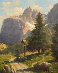 WALTHER, Max: Alpine landscape with Marte