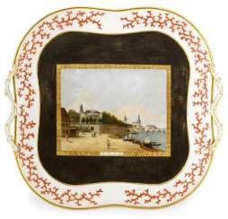 House painter-tray with a view of the Brühl'sche terraces