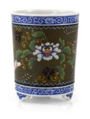 BRUSH CUP MADE OF PORCELAIN,