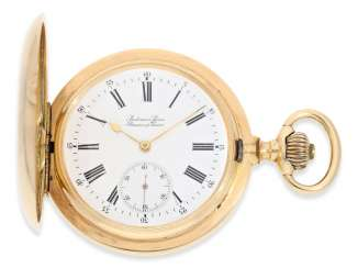 Pocket watch: very large and heavy gold savonnette, Anchor chronometer Audemars Freres No. 110747, made for the Russian market around 1900