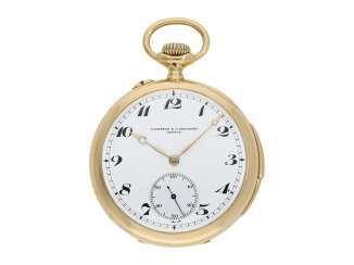 Pocket watch: very fine Vacheron & Constantin precision pocket watch with quarter repeating, No. 107720, Geneva, 1920