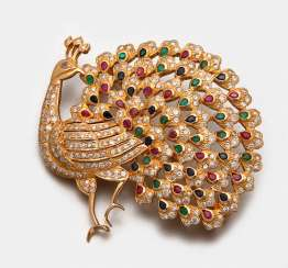 Magnificent multicolor brooch