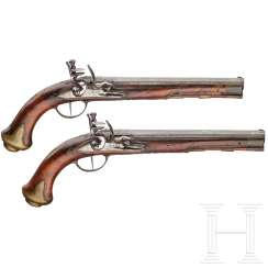 A pair of flintlock pistols, Johann Christoph Kuchenreuter, Regensburg, around 1780