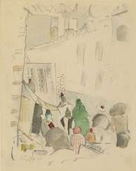 GRISHENKO, ALEXEI (1883-1977) Istanbul Street , signed twice, once on the cardboard, and dated