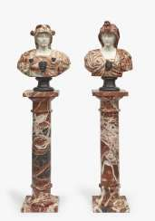 A pair of busts based on ancient rulers and rulers