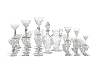 A BACCARAT 'AUSTERLITZ' PATTERN CUT-GLASS TABLE SERVICE