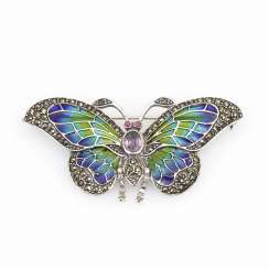 Brooch/pendant butterfly with window mail