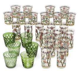A GROUP OF FRENCH (CHRISTIAN DIOR) GLASSWARE