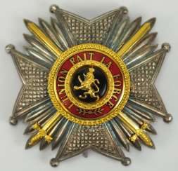 Belgium: Leopold-Order, 2. Model (1839-1951), commander's star with swords.