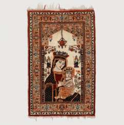 Rare small tapestry with Mary