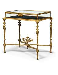 A FRENCH ORMOLU VITRINE TABLE