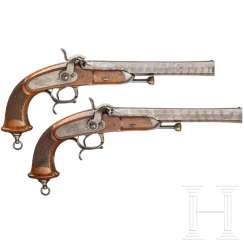 A pair of officer pistols M 1833, 1st model