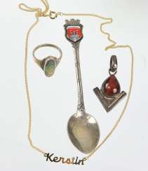 Items, fashion jewelry & souvenir spoon
