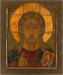 LARGE-FORMAT ICON WITH CHRIST PANTOKRATOR Russia