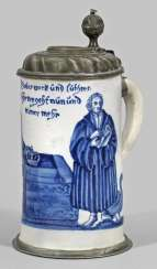 Rare Nuremberg-reel jug with Luther-motive