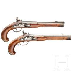A pair of silver-mounted flintlock pistols, Wittemann in Gießen, around 1750