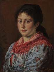 Rudolf Epp - Portrait of a young peasant woman